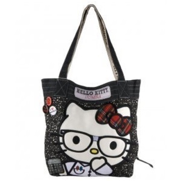 18798c890606 Hello Kitty Handbags - Hello Kitty I Love Nerds Loungefly Totebag ❤️